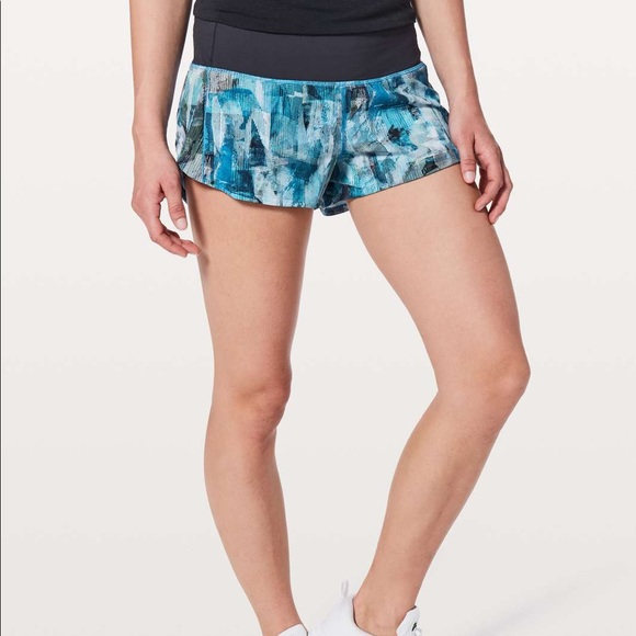 Speed Up Shorts Sun Dazed Multi Blue